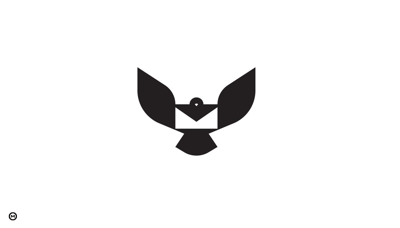 Messenger logo design process